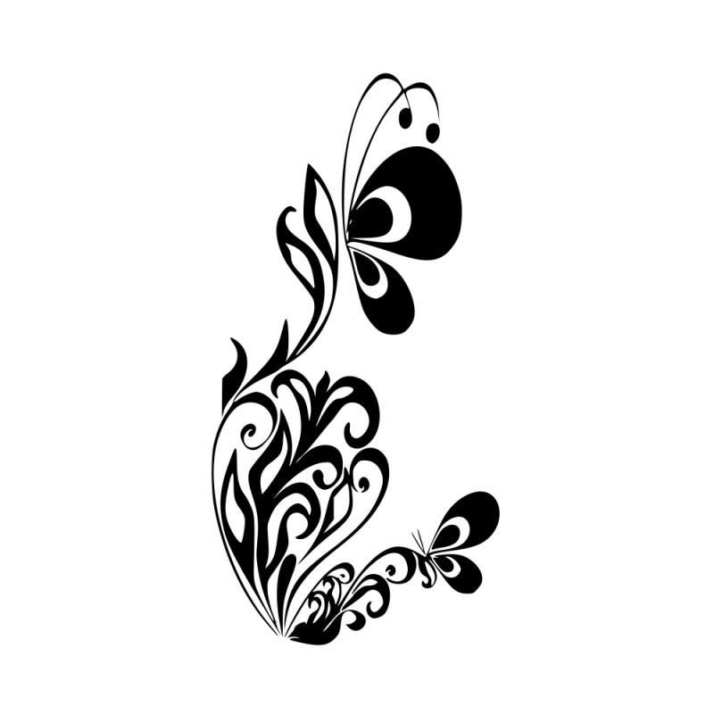 Naklejka kwiat idealna do domu lub firmy