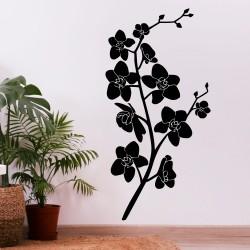 Dekoracyjna naklejka ścienna z kwiatową gałązką, która uczyni Twój dom piękniejszym miejscem.