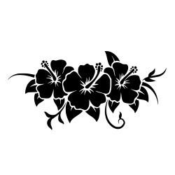 Naklejka ścienna - duży kwiat wzór p618