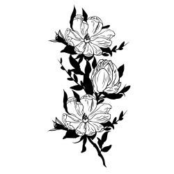 Naklejka na ścianę - Dekoracyjne kwiaty