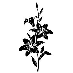 Naklejka na ścianę gałązka kwiatowa