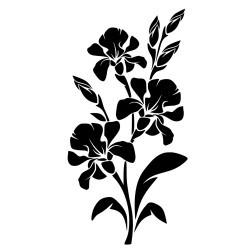 Naklejka na ścianę kwiaty