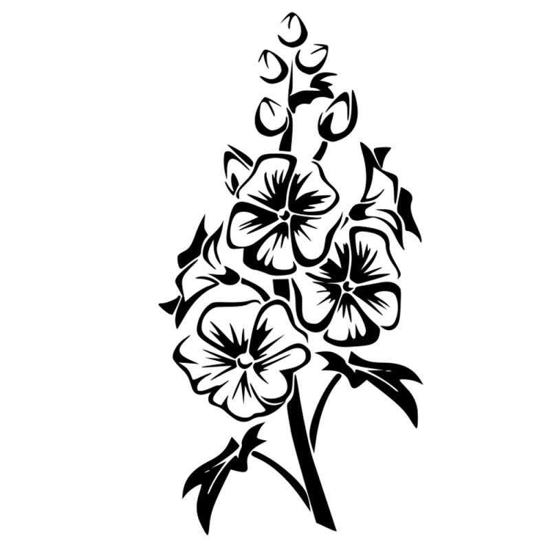 Naklejka ścienna kwiaty