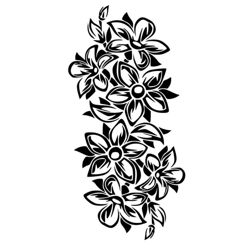Naklejki ścienne z kwiatami i roślinami, kalkomania kwiatowa.