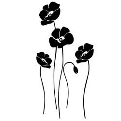 Naklejka na ścianę naklejkomania.pl kwiaty - maki.
